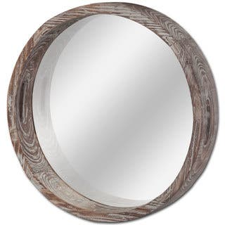 Mercana Whittier Brown Wooden Round Wall Mirror|https://ak1.ostkcdn.com/images/products/16739964/P23051973.jpg?impolicy=medium