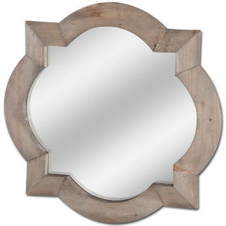 Link to Mercana Argonne Brown Wood Wall Mirror - A Similar Items in Decorative Accessories