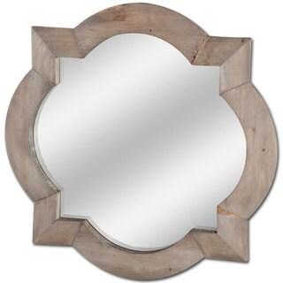 Mercana Argonne Brown Wood Wall Mirror - Light Brown - A/N