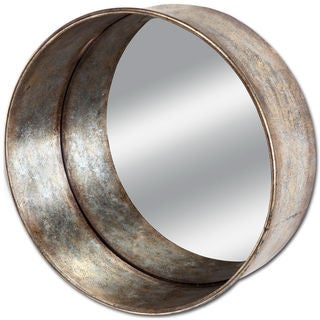 Mercana Fleet Silver Metal Large Mirror - Antique Silver - A/N