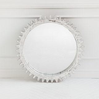 Mercana 'Sundance I' White Mirror - Antique White - A/N
