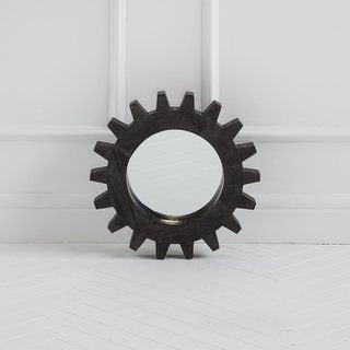 Mercana Sundance III Grey Wood-framed Wall Mirror - Antique Black - A/N