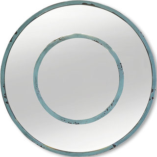 Mercana Blanshard I Blue Metal Mirror