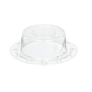 Deluxe Comfort Deep Water Bath Drain Stopper - Bottomless Bath Overflow Drain Cover - Drain Stopper, Clear