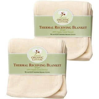American Baby Company Organic Cotton Thermal Blanket (Pack of 2)