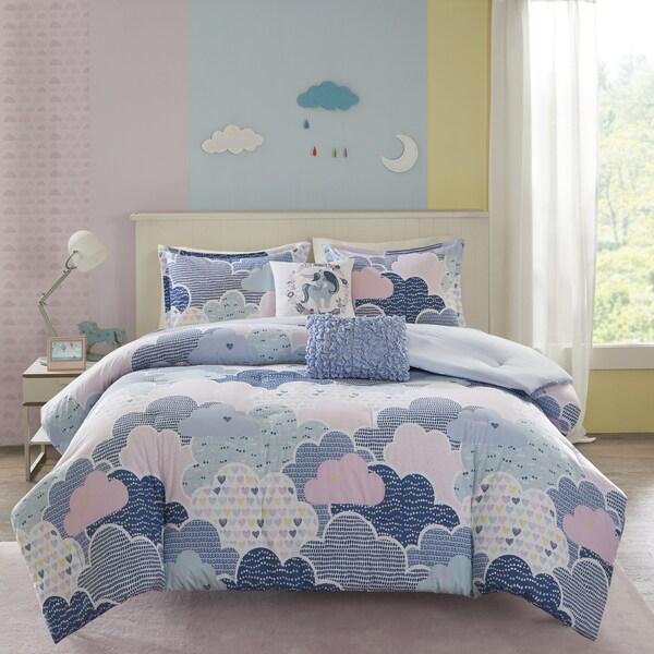 Urban Habitat Kids Bliss Blue Cotton 5-piece Duvet Cover Set