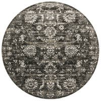 Augustus Charcoal/ Silver Rug (7'10 x 7'10 Round)