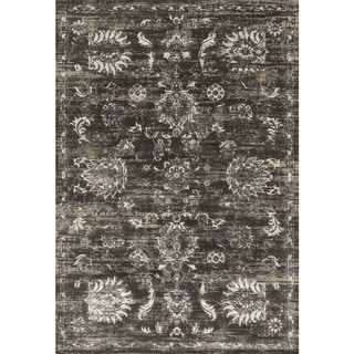"""Augustus Charcoal/ Silver Rug - 2'7"""" x 3'9"""""""