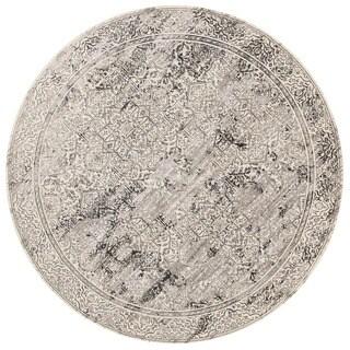 Augustus Ivory/ Grey Rug (7'10 x 7'10 Round)