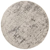 "Augustus Ivory/ Grey Rug - 7'10"" x 7'10"""