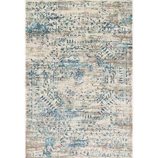 Augustus Ivory/ Blue Rug (2'7 x 3'9)