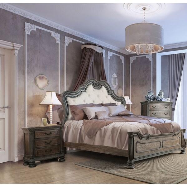 Furniture of America Brey Rustic Brown Solid Wood 3-piece Bedroom Set