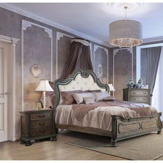 Furniture of America Brigette Traditional 3-piece Ornate Rustic Natural Tone Bedroom Set