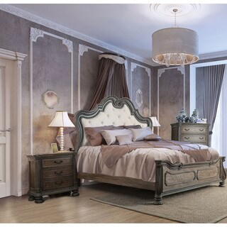 Furniture of America Brigette Traditional 3-piece Ornate Rustic Natural Tone Bedroom Set