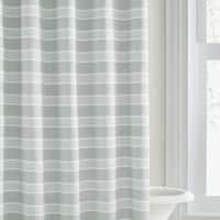 Vera Wang Linear Stripe White Green Shower Curtain