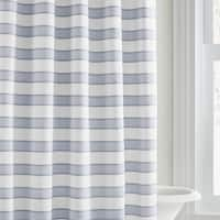Vera Wang Linear Blue Stripe Shower Curtain