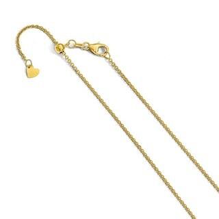 14 Karat 1.4 mm Round Cable Adjustable Chain
