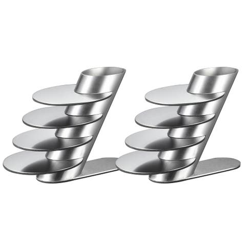 Pack of Two (2) Visol Remy Stainless Steel Round Coaster Sets