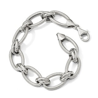 Sterling Silver Polished Oval 8in Link Chain