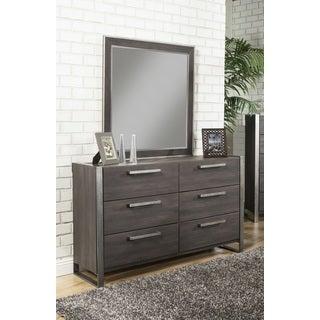 Sandberg Furniture Arts District Loft 6-Drawer Dresser and Mirror