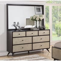 Abbyson Lennon Mid-century 7-drawer Dresser and Mirror