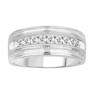 10K YG OR WG 0.25CT RD DIA MEN'S RING