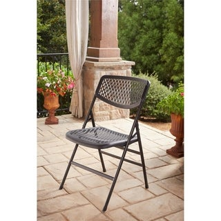 COSCO Commercial Resin Mesh Folding Chair (Set of 4)