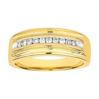 10K YG OR WG 0.50CT RD DIA MEN'S RING
