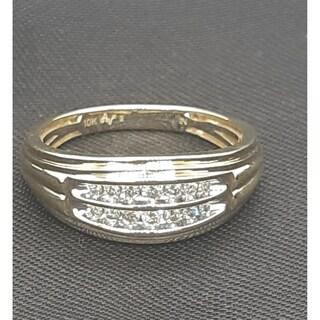 10k yellow gold or white gold 1/4ct tdw round diamond men's ring