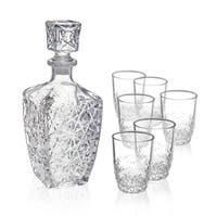 Bormioli Rocco Dedalo Whiskey Glasses with Decanter ( 7 piece set)