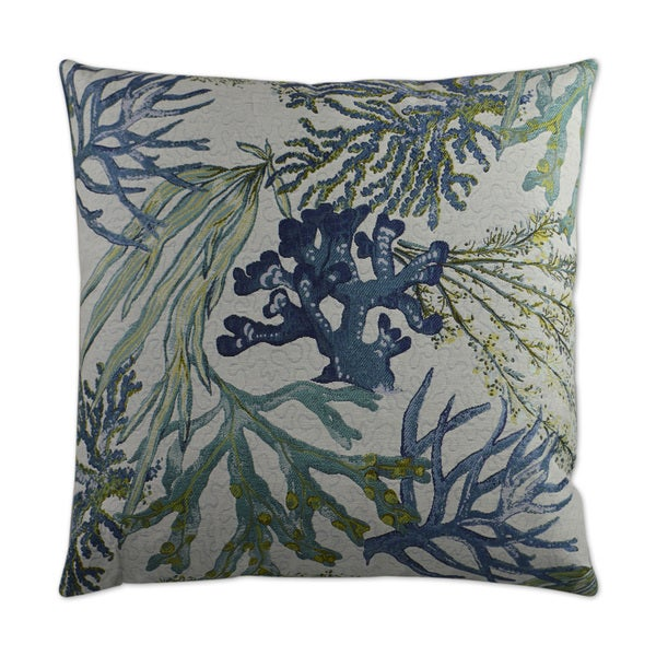 Van Ness Studio Blue Reef Down and Feathered filled 24 inch Decorative Throw Pillow