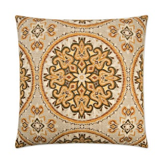 Van Ness Studio C Akola Curry Down and Feathered filled 24 inch Decorative Throw Pillow