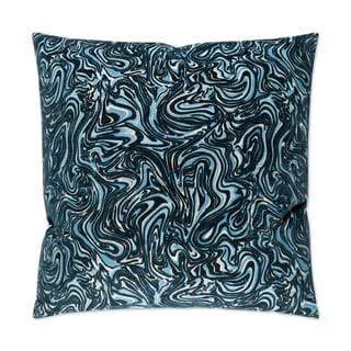 Van Ness Studio I Florentina- Indigo Down and Feathered filled 24 inch Decorative Throw Pillow