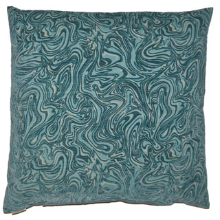Van Ness Studio T Florentina- Turquoise Down and Feathered filled 24 inch Decorative Throw Pillow