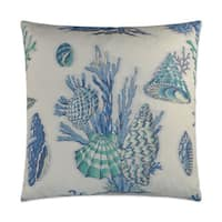 Van Ness Studio  Blue-Sur La Mer  Down and Feathered filled 24 inch Decorative Throw Pillow