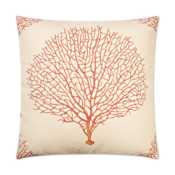 Van Ness Studio Taormina- Coral Down and Feathered filled 24 inch Decorative Throw Pillow