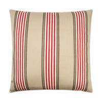Van Ness Studio R Pennington Red Down and Feathered filled 24 inch Decorative Throw Pillow