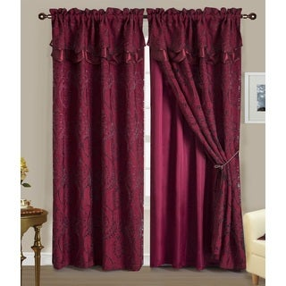 RT Designers Collection Aldo Double Curtain Panel with Valance