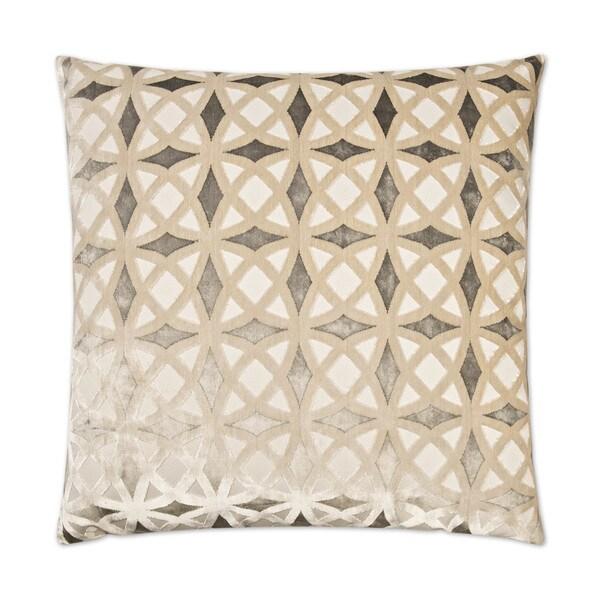 Van Ness Studio 2422-P Kraus- Platinum Decorative Throw Pillow