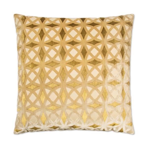 Van Ness Studio 2422-G Kraus- Gold Down and Feathered filled 24 inch Decorative Throw Pillow