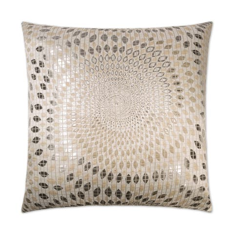 Van Ness Studio S Whirl Silver Down and Feathered filled 24 inch Decorative Throw Pillow