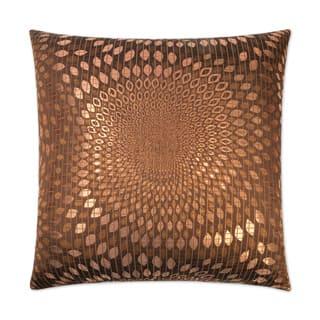 Whirl-Copper Feather Down Hidden Zipper 24-inch Decorative Throw Pillow