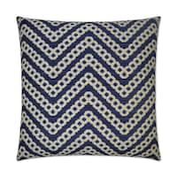 Van Ness Studio  Daumier- Navy Down and Feathered filled 24 inch Decorative Throw Pillow