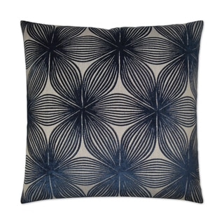 Van Ness Studio  Ellery- Navy Down and Feathered filled 24 inch Decorative Throw Pillow