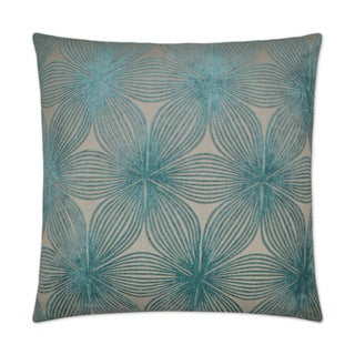 Van Ness Studio  Ellery- Aqua Down and Feathered filled 24 inch Decorative Throw Pillow