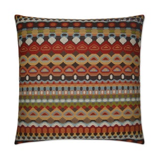 Van Ness Studio  Da Bomb- Carmine Down and Feathered filled 24 inch Decorative Throw Pillow