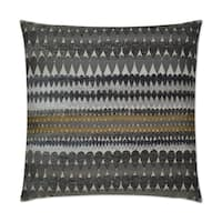 Van Ness Studio  Stormy- Grey Down and Feathered filled 24 inch Decorative Throw Pillow
