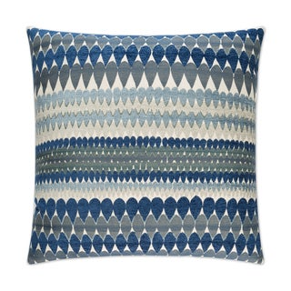 Van Ness Studio  Stormy- Blue Down and Feathered filled 24 inch Decorative Throw Pillow
