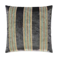 Van Ness Studio  Winston- Grey Down and Feathered filled 24 inch Decorative Throw Pillow