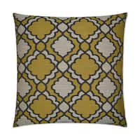 Van Ness Studio Taylor- Gold Down and Feathered filled 24 inch Decorative Throw Pillow